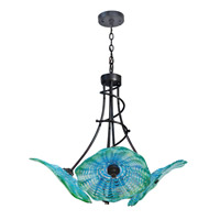 Waterfront 4 Light 27 inch Dark Bronze Pendant Ceiling Light