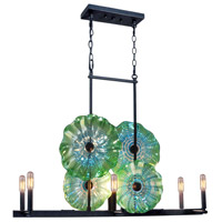 Waterfront 6 Light 26 inch Dark Bronze Island Light Ceiling Light
