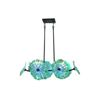 Dale Tiffany Waterfront 6 Light Island Light in Dark Bronze AH14305