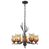 Owl 5 Light 24 inch Dark Bronze Pendant Ceiling Light