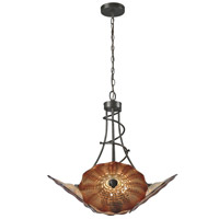 Dale Tiffany AH14335 Titan 4 Light 27 inch Dark Bronze Pendant Ceiling Light
