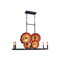 Titan 6 Light 26 inch Dark Bronze Island Light Ceiling Light
