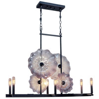 Dale Tiffany Impasto 6 Light Island Light in Dark Bronze AH14344