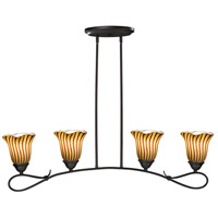 Dale Tiffany Valley Glen 4 Light Island Light in Dark Bronze AH15014