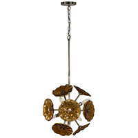 Burnt Sienna 6 Light 15 inch Polished Chrome Hanging Fixture Ceiling Light