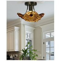 Dale Tiffany AH15481LED Burnt Sienna LED 12 inch Copper Bronze Semi-Flush Mount Ceiling Light AH15481LED_2.jpg thumb