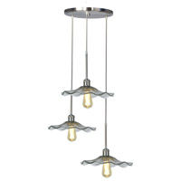 Dale Tiffany AH16069LED Indonesia LED 18 inch Satin Nickel Pendant Ceiling Light