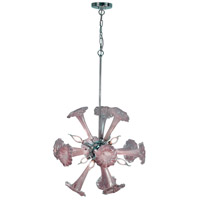 Yuri 6 Light 22 inch Polished Chrome Chandelier Ceiling Light