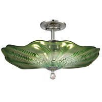 Dale Tiffany AH18009 Waterfront 3 Light 20 inch Polished Chrome Semi-Flush Mount Ceiling Light