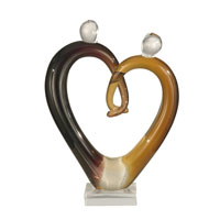 Dale Tiffany Art Glass Hearts Sculpture AS11112