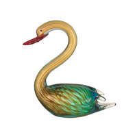 Dale Tiffany Art Glass Swan Figurine AS11115