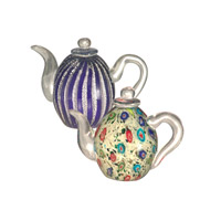 Favrile Art Glass Teapot Set Decorative Accessory