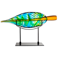 Dale Tiffany AS15484 Leaf Black Sculpture with Stand, with Stand