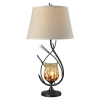 Dale Tiffany Owl 2 Light Table Lamp in Dark Bronze AT14310