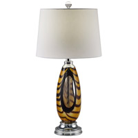 Dale Tiffany AT17086 Bengal Tiger 28 inch 150 watt Polished Chrome Table Lamp Portable Light