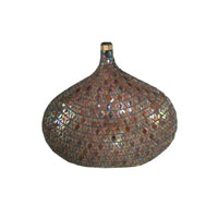 Dale Tiffany Peacock Mosaic Decorative Vase AV10662