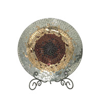 Dale Tiffany Antique Gold Mosaic Charger AV10724
