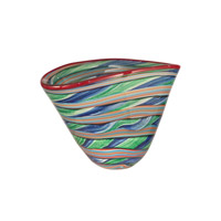 Striped 13 X 10 inch Bowl