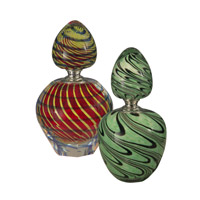 Swirl Perfume Bottle Decorative Accessory
