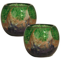 Mardi Gras 4 X 4 inch Candle Holder, 2-Piece Set
