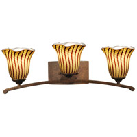 Valley 3 Light 25 inch Antique Golden Bronze Vanity Light Wall Light