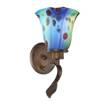 Dale Tiffany Mogan 1 Light Wall Sconce in Rustic Bronze AW14290