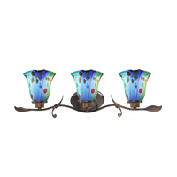 Dale Tiffany Mogan 3 Light Vanity Light in Rustic Bronze AW15011
