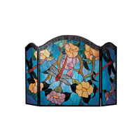 Dale Tiffany Dragonfly Fireplace Screen 2 Light FS0100