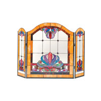 Dale Tiffany Anemone Fireplace Screen 2 Light FS0111