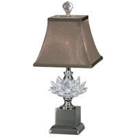Lucinda 17 inch 40 watt Polished Nickel Accent Lamp Portable Light