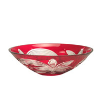 Red Floral 13 X 4 inch Bowl