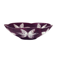 Dale Tiffany Burgundy Cayman Bowl GA70441