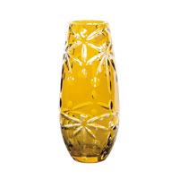 Dale Tiffany Glossy Amber Tall Vase GA80049 photo thumbnail