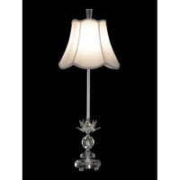 Dale Tiffany Rowland Buffet Table Lamp 1 Light in Chrome GB11163