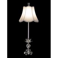 Dale Tiffany Rowland Buffet Table Lamp 1 Light in Chrome GB11163 photo thumbnail
