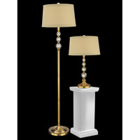 Optic 62 inch 100 watt Antique Brass Table/Floor Lamp Set Portable Light