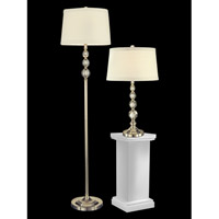 Dale Tiffany Optic 2 Light Table/Floor Lamp Set in Satin Nickel GC12290