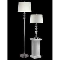 Dale Tiffany Optic 2 Light Table/Floor Lamp Set in Polished Nickel GC12361