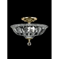 Golden Gate 3 Light 12 inch Polished Brass Flush Mount Ceiling Light
