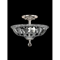 Golden Gate 3 Light 12 inch Polished Chrome Flush Mount Ceiling Light