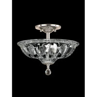 Golden Gate 3 Light 12 inch Satin Nickel Flush Mount Ceiling Light