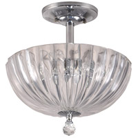 Dale Tiffany Sereno 3 Light Flush Mount in Polished Chrome GH11233PC