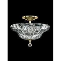 Meridith 3 Light 12 inch Polished Brass Flush Mount Ceiling Light