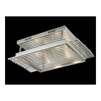 Dale Tiffany Berkshire 4 Light Flush Mount in Polished Chrome GH13339