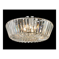 Dale Tiffany Lena 5 Light Flush Mount in Polished Chrome GH13340