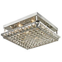 Dale Tiffany Ibiza 4 Light Flush Mount in Polished Chrome GH13342