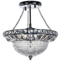 Dale Tiffany Hills 3 Light Inverted Pendant in Polished Chrome GH13385