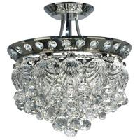 Dale Tiffany GH14134 Carmen 4 Light 16 inch Polished Chrome Flush Mount Ceiling Light