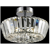 Woodstone 3 Light 12 inch Polished Chrome Flush Mount Ceiling Light