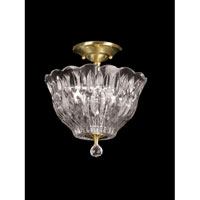 Dale Tiffany Heath Park 3 Light Flush Mount in Polished Brass GH60714PB
